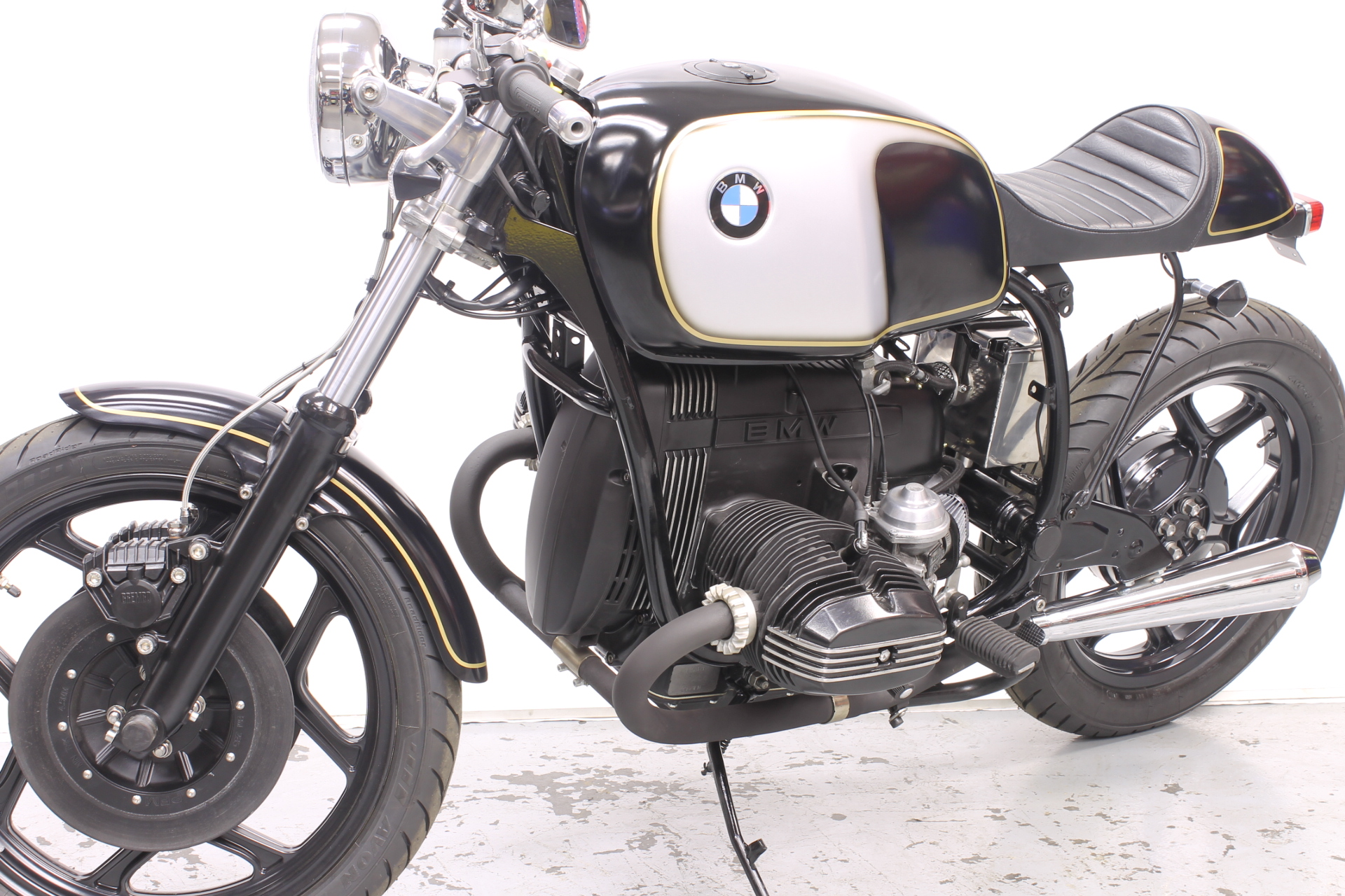 1985 bmw r80 cafe racer sold moto pitstop. Black Bedroom Furniture Sets. Home Design Ideas